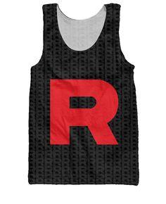cb464b20521bbd Pokemon Team Rocket Tank Top Letter R Print Vest Fashion Clothing Summer  Style Tops Fashion Clothing Jersey For Women Men