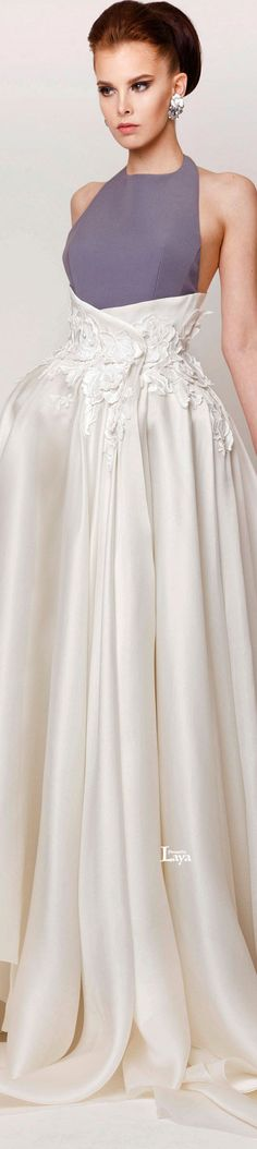♔LAYA♔AZZI & OSTA S/S 2015 COUTURE♔ love the details on the waist. Would also look good in black  ;)