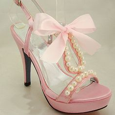 love these, pink, pearls and bow