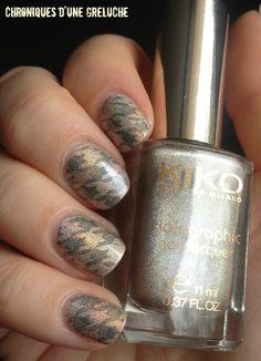 houndstooth #nail art polish design