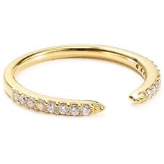 Nadri Pave Open Midi Ring ($50) ❤ liked on Polyvore featuring jewelry, rings, pave jewelry, midi rings, nadri, pave ring and mid knuckle rings