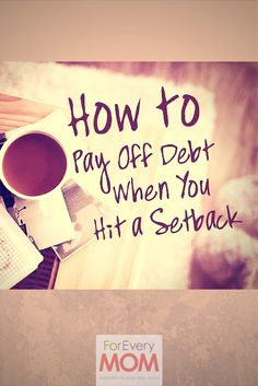 How to pay off debt even when you hit a setback. Keep working to be debt free even when obstacles get in your way. Debt can be defeated if you keep at it no matter what! debt strategies, pay off debt, how to pay off debt Debt Snowball, Debt Consolidation, Budgeting Finances, Budgeting Tips, Family Budget, Get Out Of Debt, Debt Payoff, Debt Free, Saving Ideas