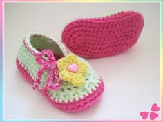 Ballerinas, Baby Kind, Baby Shoes, Kids, Clothes, Fashion, Flower Crochet, Inside Shoes, Threading