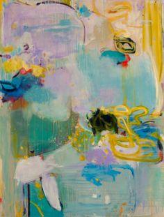 "April Showers Acrylic on Linen 48"" x 36""  48x36""--by Rachel Volpone"