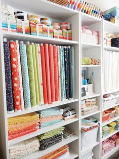 The Sewing Room Sewing Room Layout Ideas: 5 Tips to Set up Your Sewing Space featured by top US quil Tiny Sewing Room, Sewing Room Design, Sewing Room Storage, Sewing Room Decor, Craft Room Design, Sewing Spaces, Sewing Room Organization, Craft Room Storage, Fabric Storage