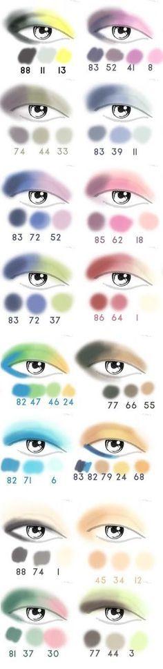 Fard à paupières couleur des yeux