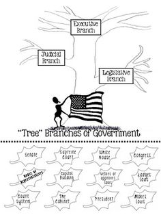THREE BRANCHES OF GOVERNMENT NOTES AND TREE - TeachersPayTeachers.com