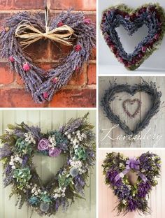Lavender & Pink Heart Shaped Wreaths