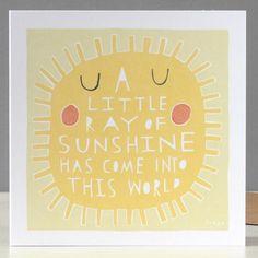 little ray of sunshine card by Freya Ete