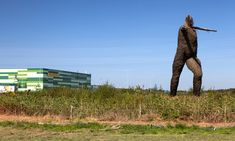 The Willow Man sculpture beside the Morrisons distribution centre in Somerset.