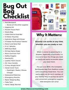 Bug Out Bag Checklist - Do You Know What to Pack for a Hurricane? - FREE Bug Out Bag Checklist – Know What to Pack for a Hurricane - Emergency Go Bag, Emergency Binder, Emergency Survival Kit, Survival Life Hacks, Emergency Preparation, Emergency Supplies, Survival Prepping, Survival Skills, Survival Gear