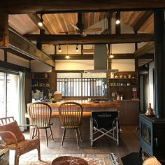 Traditional Interior Design Ideas For A Beautiful Home Cafe Interior, Interior Design Kitchen, Interior Decorating, Ikea Interior, Decorating Games, Plywood Furniture, Japanese Style House, Japanese Interior Design, Cocinas Kitchen
