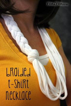This is my next project. another braided tshirt scarf tutorial