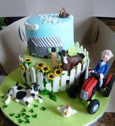Tractor cake By fantaisiessucrees on CakeCentral.com