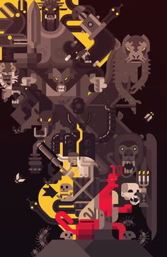 Hellboy by Daniel Nyari, via Behance
