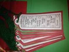 Classroom party activity tags. Kinda like this idea so we're not asking over and over if they did this or that