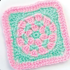 """Circular granny square/ don't these colours just scream """"baby"""" - colours are so soft/ FREE CROCHET pattern"""