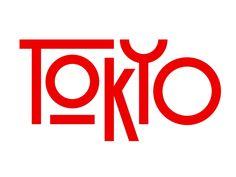 Tokyo by Rafael Serra on Dribbble Japanese Branding, Japanese Typography, Typography Logo, Typography Design, Branding Design, Packaging Design Inspiration, Logo Inspiration, Tokyo Design, Graphic Design Fonts