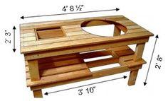 Xl Big Green Egg Table Plans