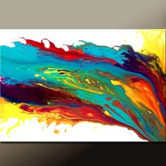 Abstract Art Painting on Canvas 36x24 Original Modern Contemporary Art by Destiny Womack - dWo - Beyond the Sun