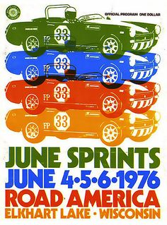 Seventies sweet ride #cars #racing #posters #design #70s