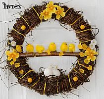 pl na Stylowi. Diy Arts And Crafts, Creative Crafts, Hoppy Easter, Easter Eggs, Spring Crafts, Holiday Crafts, Easter Wreaths, Christmas Wreaths, Deco Floral