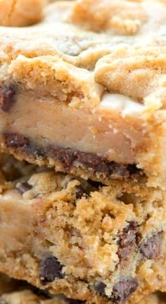Gooey Peanut Butter Chocolate Chip Cookie Bars