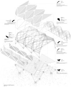 A As Architecture, Parametric Architecture, Parametric Design, Architecture Drawings, Stadium Architecture, Architecture Diagrams, Modern Roofing, Corrugated Roofing, 3d Modelle