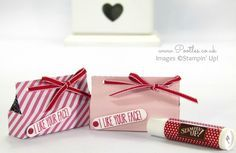 Stampin' Up! UK Demonstrator Pootles - Lip Balm Box Tutorial using Stacked With Love DSP