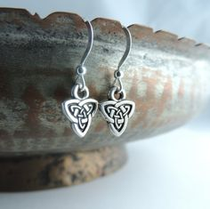 Sterling Silver Earrings, Celtic Earrings