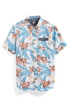 Boy's Rip Curl 'Ventura' Short Sleeve Sport Shirt