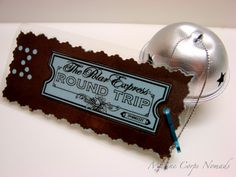 Polar Express Ticket Ornament... use as invitations or favors.
