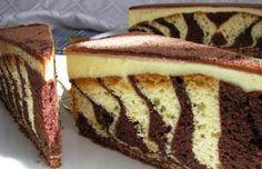 ZEBRA koláč s mascarpone krémem | NejRecept.cz