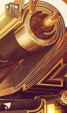 2014 Steampunk Poster by ZAKI Abdelmounim, via Behance