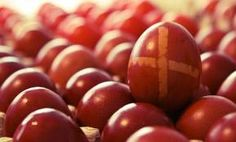 Greek Meat & Alternatives — Eggs. Eggs are eaten weekly in Greece. The are very important during Greek Easter as they are dyed red to represent the blood Christ shed.