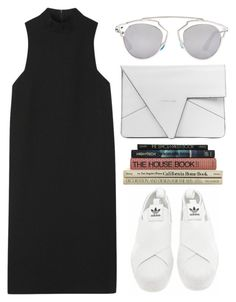 """FRESH."" by shanelala ❤ liked on Polyvore featuring adidas, Rosetta Getty, Christian Dior, women's clothing, women's fashion, women, female, woman, misses and juniors"