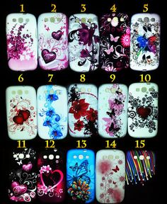 $5.95 with FREE SHIPPING! New Samsung Galaxy S3 s 3 III i9300 Soft Gel Silicone Case Cover Many Designs | eBay