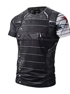 Hot Sale The Avengers Winter Soldier Captain America 3 Civil War T-Shirt Breathes Wear Summer Costume Tees Printing Punk, Camouflage, Bodybuilding T Shirts, Dress Code Casual, Sport T-shirts, Gothic, Herren T Shirt, Mens Tees, Patterned Shorts