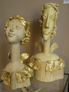 Community for Contemporary Art - Anna Plonka Ceramic Angels, Ceramic Figures, Sculpture Art, Art Dolls, Contemporary Art, Artisan, Pottery, Portrait, Terracotta