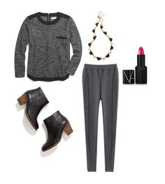 Comfy cold-weather outfits via This Life Styled. In dire need of these leggings!