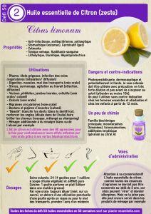 Fiche n°2 du #defi50: l'huile essentielle de citron