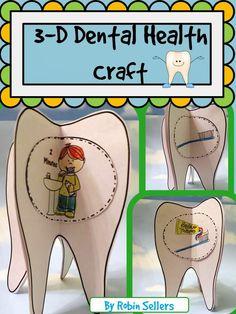 Sweet Tea Classroom: Dental Health Craft  -- A 3D Tooth Brushing Crafti...
