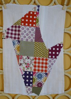 FREE SHIPPING Color Squares Cuts Collection Burp by breedbaby, $12.50