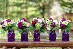 Image result for garden wedding purple white green