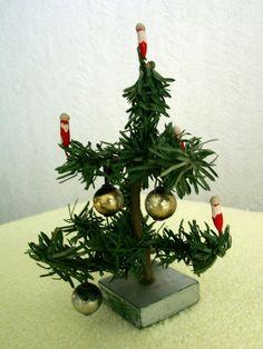 wundersch ner alter weihnachtsbaum 40 cm viele alte. Black Bedroom Furniture Sets. Home Design Ideas
