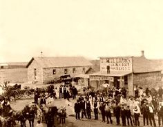"Nicodemus, Kansas is the only remaining western community established by African Americans after the Civil War. This ""ghost town "" has since gained recognition as a National Historic Site. Nicodemus, Kansas 1885"