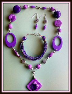 purple polymer clay set