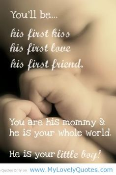(: being a mom for the first time.. this touched my heart. I can't wait to have this bond with my son. ♥