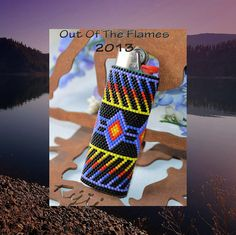 Bead PATTERN Amitola Lighter Cover Peyote or by Outoftheflames