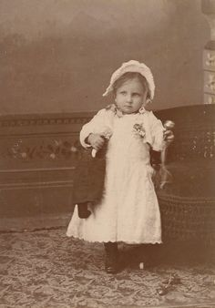 Antique Cabinet Card Rare Little Girl With One by BallyDingRevue, $40.00